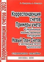 Корреспонденция счетов, 2003. Справочное пособие