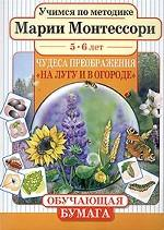Учимся по методике Марии Монтессори. Чудеса преображения. На лугу и в огороде. Для детей 5-6 лет