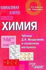 Химия. Таблица Д.И. Менделеева и справочные материалы