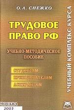 Трудовое право РФ. Учебный комплекс курса: учебно-методическое пособие