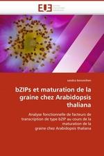 bZIPs et maturation de la graine chez Arabidopsis thaliana. Analyse fonctionnelle de facteurs de transcription de type bZIP au cours de la maturation de la graine chez Arabidopsis thaliana