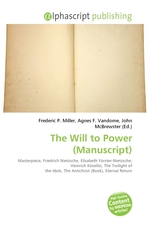 The Will to Power (Manuscript)
