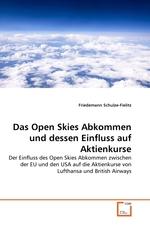 Das Open Skies Abkommen und dessen Einfluss auf Aktienkurse. Der Einfluss des Open Skies Abkommen zwischen der EU und den USA auf die Aktienkurse von Lufthansa und British Airways