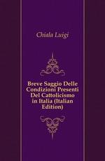 Breve Saggio Delle Condizioni Presenti Del Cattolicismo in Italia (Italian Edition)