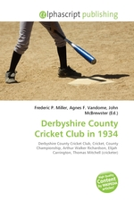Derbyshire County Cricket Club in 1934
