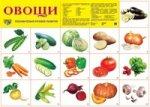 Демонстрационный плакат. Овощи