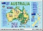Карта Австралии на английском языке