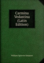 Carmina Vedastina (Latin Edition)