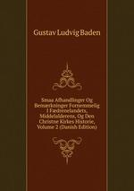 Smaa Afhandlinger Og Bemrkninger Fornemmelig I Fdrenelandets, Middelalderens, Og Den Christne Kirkes Historie, Volume 2 (Danish Edition)