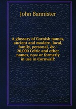 A glossary of Cornish names, ancient and modern, local, family, personal,&c.: 20,000 Celtic and other names, now or formerly in use in Cornwall: