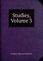 Studies, Volume 3