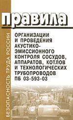 Правила организации и проведения акустико-эмиссионного контроля сосудов, аппаратов, котлов и технологических трубопроводов. ПБ 03-593-03