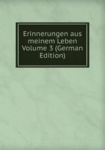 Erinnerungen aus meinem Leben Volume 3 (German Edition)