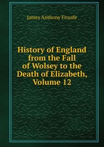 History of England from the Fall of Wolsey to the Death of Elizabeth, Volume 12