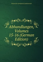 Abhandlungen, Volumes 15-16 (German Edition)