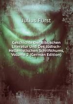 Geschichte Der Biblischen Literatur Und Des Jdisch-Hellenistischen Schriftthums, Volume 2 (German Edition)