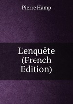 L`enqute (French Edition)