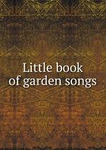 Little book of garden songs