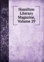 Hamilton Literary Magazine, Volume 29