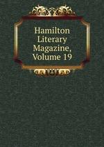 Hamilton Literary Magazine, Volume 19