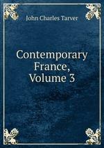 Contemporary France, Volume 3