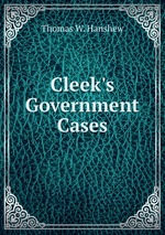 Cleek`s Government Cases