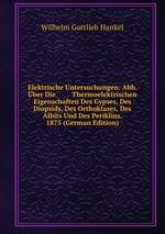 Elektrische Untersuchungen: Abh. ber Die Thermoelektrischen Eigenschaften Des Gypses, Des Diopsids, Des Orthoklases, Des Albits Und Des Periklins. 1875 (German Edition)
