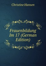 Frauenbildung Im 17 (German Edition)