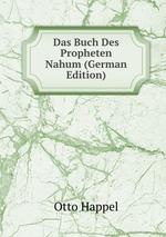 Das Buch Des Propheten Nahum (German Edition)