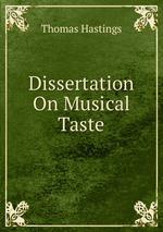 Dissertation On Musical Taste