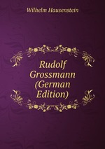 Rudolf Grossmann (German Edition)
