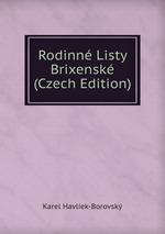 Rodinn Listy Brixensk (Czech Edition)
