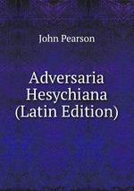 Adversaria Hesychiana (Latin Edition)