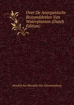 Over De Anorganische Bestanddeelen Van Waterplanten (Dutch Edition)