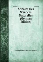 Annales Des Sciences Naturelles (German Edition)