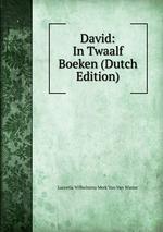 David: In Twaalf Boeken (Dutch Edition)