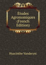 tudes Agronomiques (French Edition)