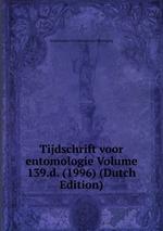 Tijdschrift voor entomologie Volume 139.d. (1996) (Dutch Edition)