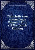 Tijdschrift voor entomologie Volume 121.d. (1978) (Dutch Edition)