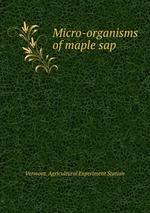 Micro-organisms of maple sap