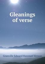 Gleanings of verse