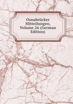 Osnabrcker Mitteilungen, Volume 26 (German Edition)
