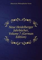 Neue Heidelberger Jahrbcher, Volume 7 (German Edition)