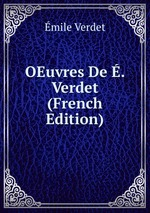 OEuvres De . Verdet (French Edition)