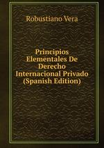 Principios Elementales De Derecho Internacional Privado (Spanish Edition)