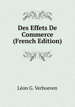Des Effets De Commerce (French Edition)