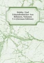 Stdte- Und Urkundenbcher Aus Bhmen, Volumes 3-4 (German Edition)