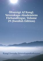 fversigt Af Kongl. Vetenskaps-Akademiens Frhandlingar, Volume 29 (Swedish Edition)