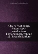 fversigt Af Kongl. Vetenskaps-Akademiens Forhandlingar, Volume 22 (Swedish Edition)