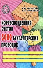 Корреспонденция счетов. 5000 бухгалтерских проводок